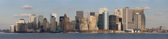 Lower Manhatten from Staten Island Ferry by Diliff