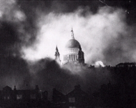 St Paul's during the Blitz