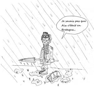 Aix sous la pluie by the artist Barbarion