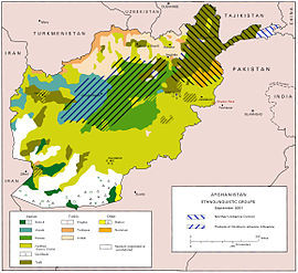 Ethnolinguistic map of Afghanistan ex wikipedia
