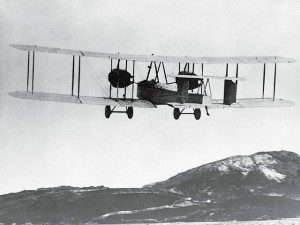 Vickers Vimy with Alcock and Brown aboard departs-Newfoundland 14 June 1919