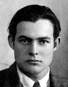 Ernest Hemingway,1923 Source: Wikipedia