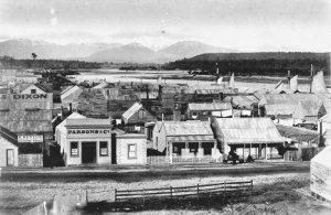 Hokitika township 1870s