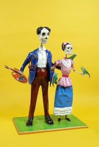 Kahlo Rivera Day of the Dead sculpture by Miguel Linares Source: Wikipedia