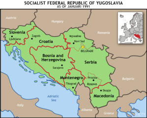 Territory that made up the former Yugoslavia