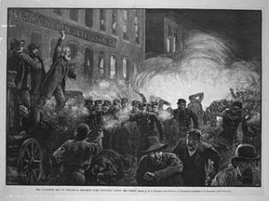 Haymarket Riot, 4 May 1886, Chicago, Illinois