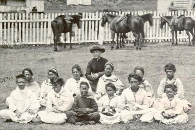 Kalaupapa leper colony, Moloka'i, circa 1870: Creative Commons
