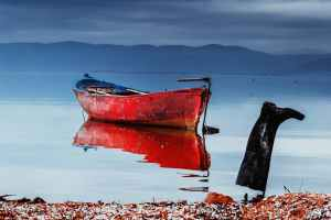 The Ferryman's Daughter Juliet Greenwood red fishing boat