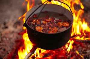 Tituba Samel witch cauldron fire